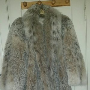Jackets & Blazers - Full length Lynx fur coat